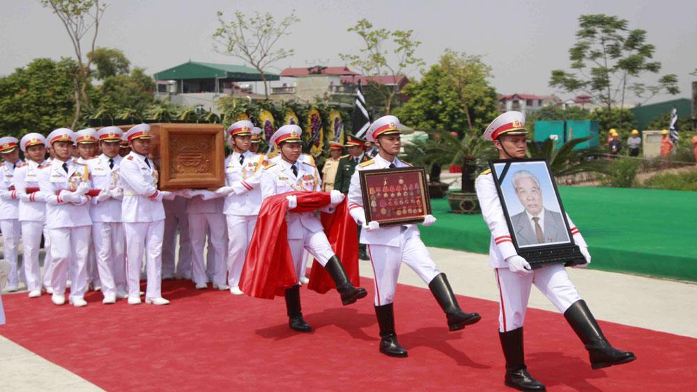 Lễ an táng, nguyên Tổng Bí thư Đỗ Mười, quê hương