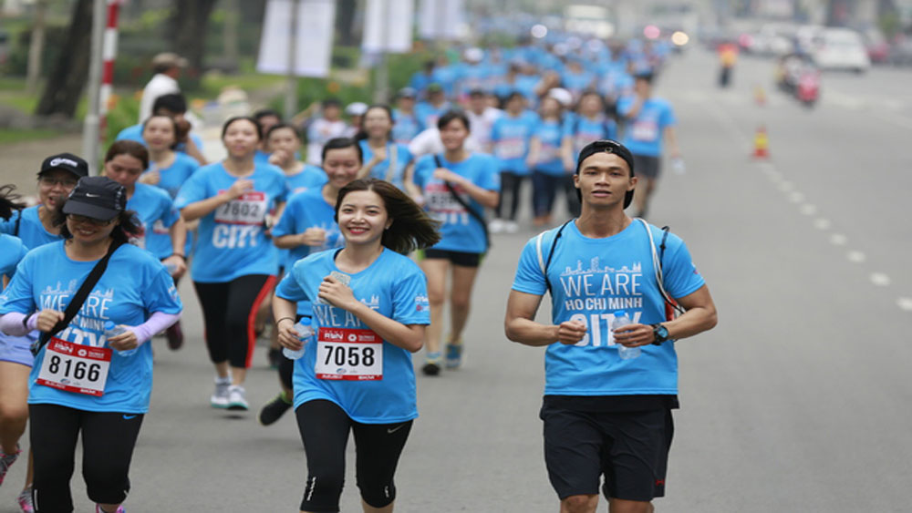 HCMC, International Marathon, charity event, charitable cause, various landmarks, community running event