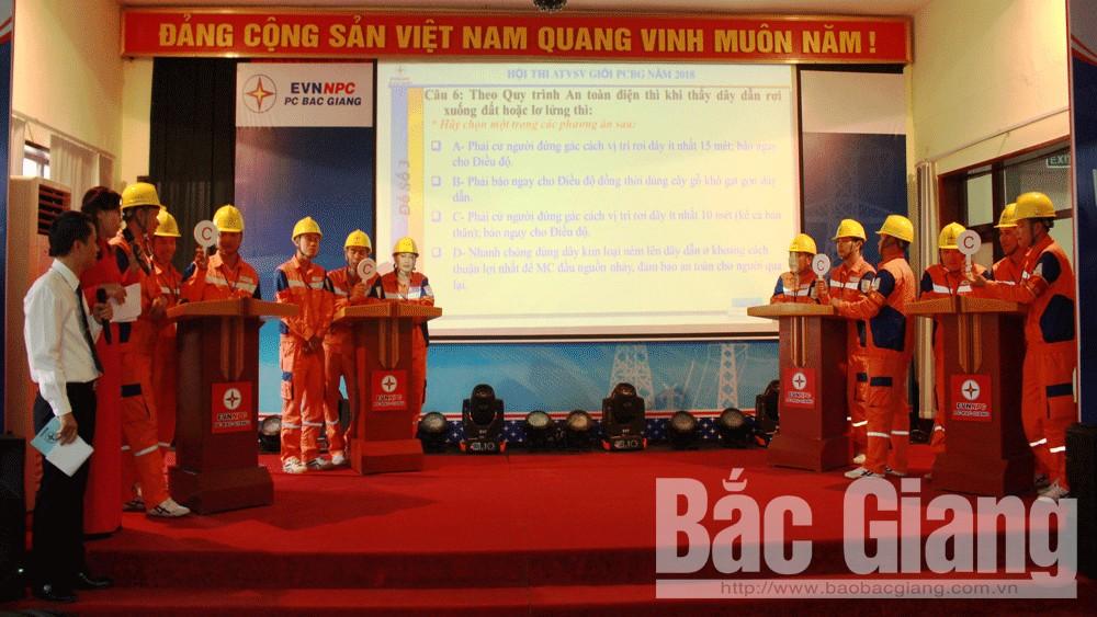 Điện lực, Bắc Giang, công ty, sôi nổi, hội thi, an toàn, vệ sinh viên, giỏi