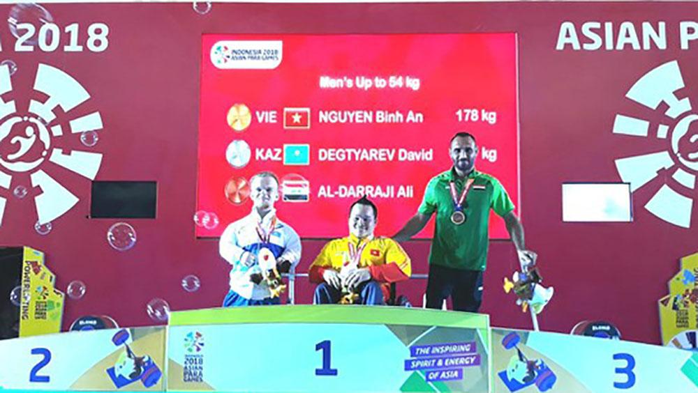 Thể thao người khuyết tật Việt Nam đoạt 4 HCV Asian Para Games