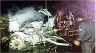 Xe đầu kéo chở 32 tấn mủ cao su bốc cháy ngùn ngụt