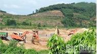 Đã xử phạt đối tượng khai thác khoáng sản trái phép tại xã Bình Sơn (Lục Nam)