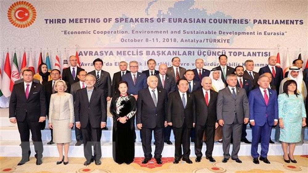 Khai mạc Hội nghị Chủ tịch Quốc hội Á Âu lần thứ 3