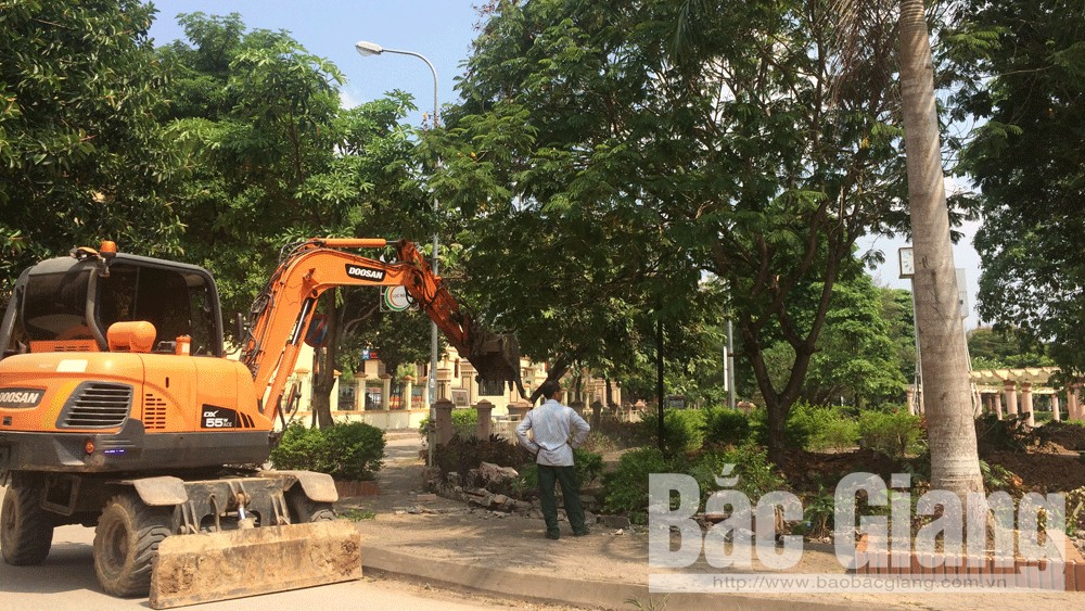 Lục Ngạn, Bắc Giang, cải tạo công viên, Thị trấn Chũ