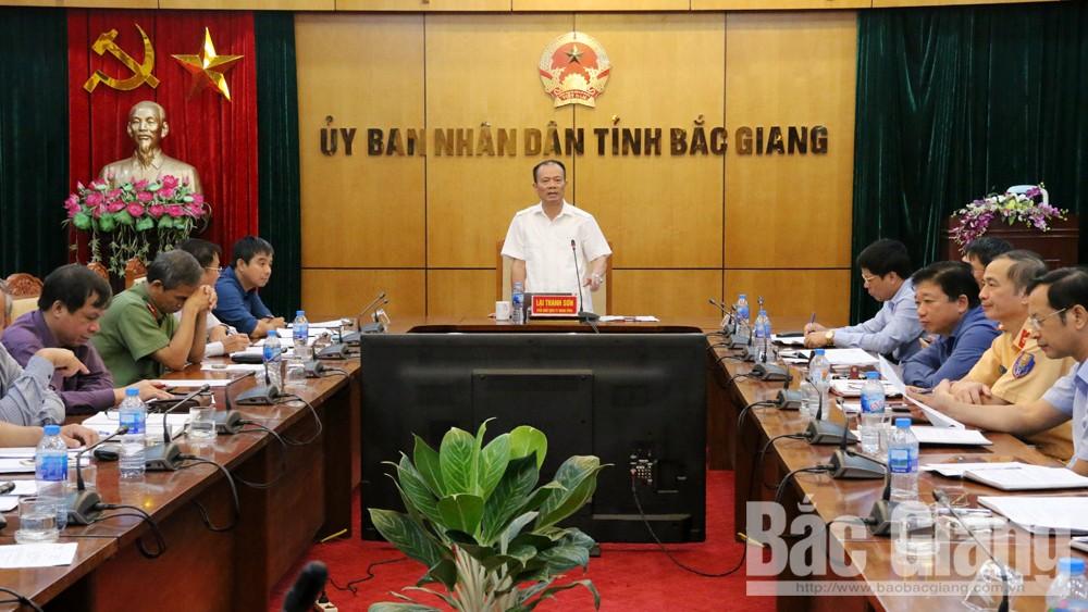 Bắc Giang; ATGT, Phó Chủ tịch UBND tỉnh Lại Thanh Sơn