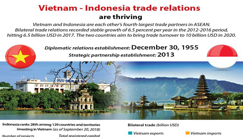 Vietnam and Indonesia trade relations are thriving