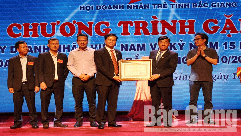 Bắc Giang, gặp mặt, doanh nhân trẻ, nhân, kỷ niệm, 15 năm, phong trào, doanh nhân trẻ tỉnh