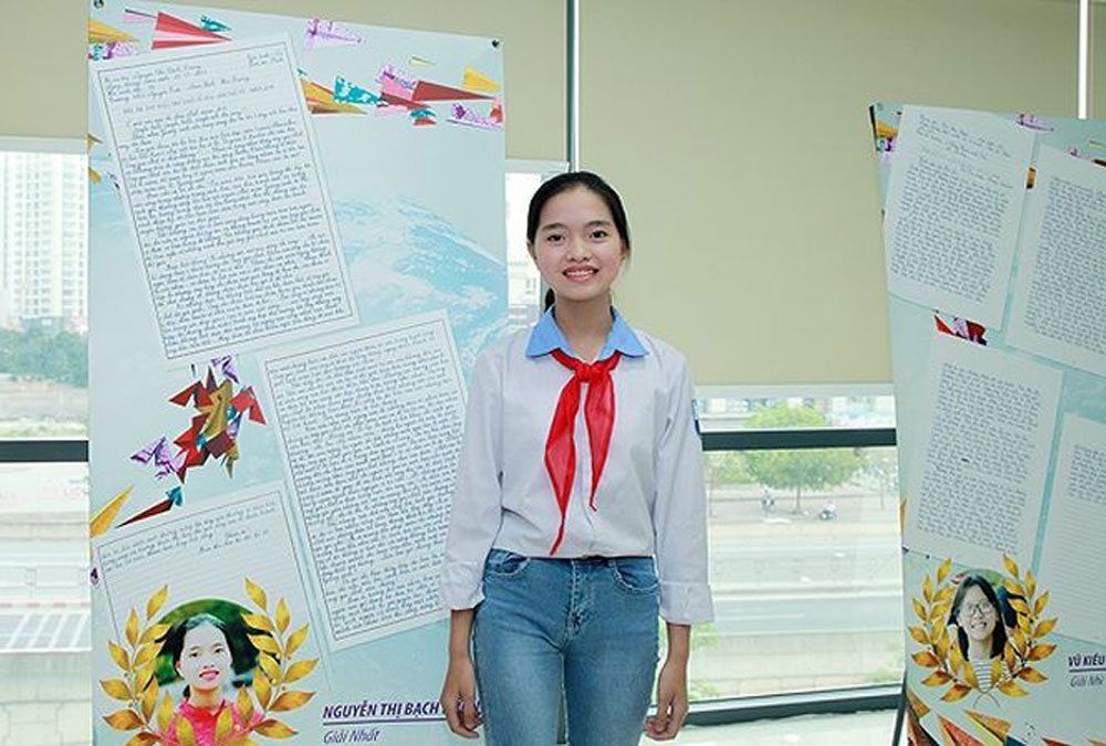 Vietnamese student, third prize, international UPU contest, Nguyen Thi Bach Duong, UPU member countries, children's rights