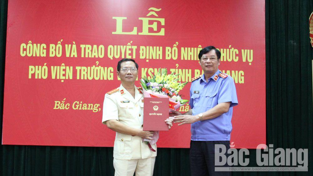 Bắc Giang; bổ nhiệm; Phó Viện trưởng KSND tỉnh, Nguyễn Xuân Hồng