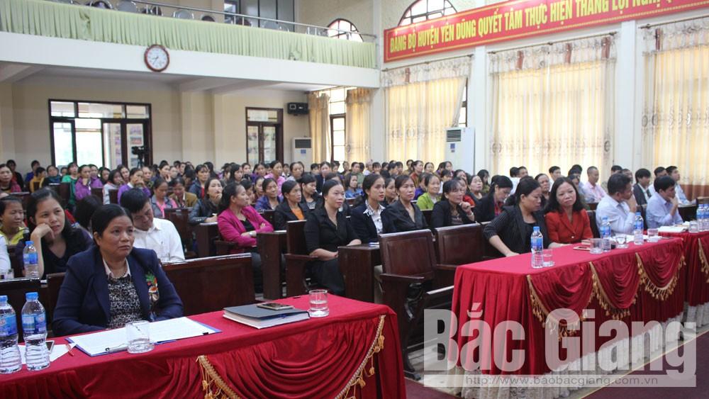 Yên Dũng, Bí thư Huyện ủy, đối thoại, phụ nữ