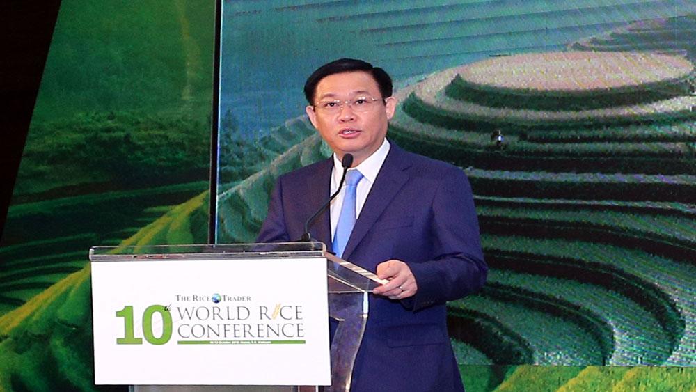 Phó Thủ tướng Vương Đình Huệ, tham gia, chuỗi giá trị toàn cầu, khẳng định, uy tín, thương hiệu gạo Việt Nam