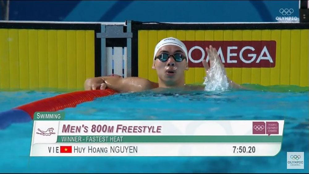 Kình ngư, Nguyễn Huy Hoàng, giành HCV, Olympic trẻ 2018