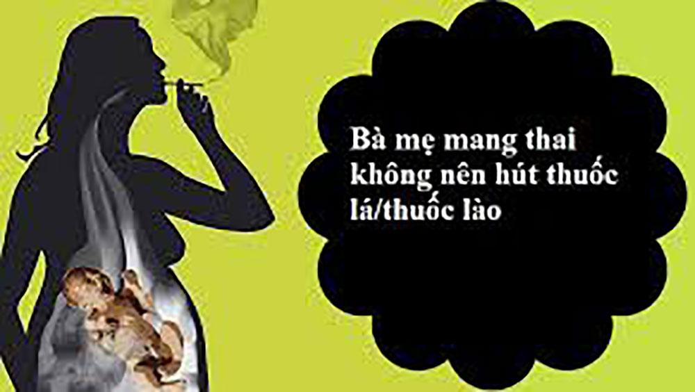 Phụ nữ mang thai cần tránh khói thuốc lá