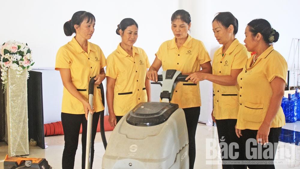 Bắc Giang, giúp việc, phụ nữ, gia đình, vệ sinh nhà cửa