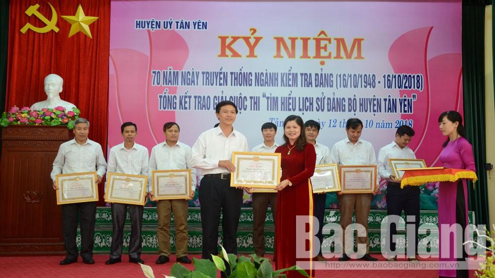 Tân Yên, kỷ niệm ngày Kiểm tra, cuộc thi, tìm hiểu lịch sử, Bắc Giang, Ủy ban Kiểm tra