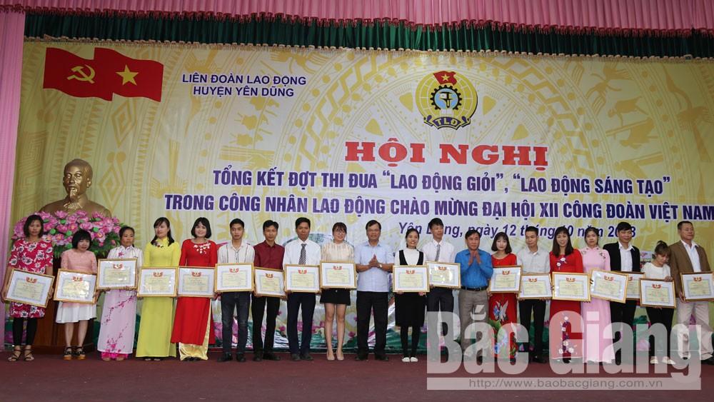 73 công nhân lao động xuất sắc được Liên đoàn Lao động tỉnh tặng Bằng khen
