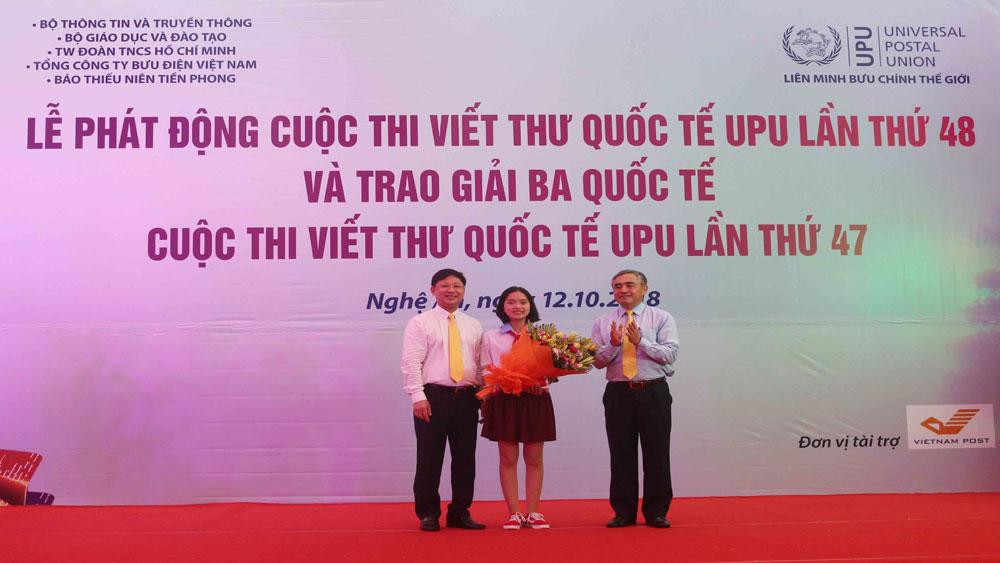 Phát động, Cuộc thi viết thư quốc tế UPU lần thứ 48, tỉnh Nghệ An