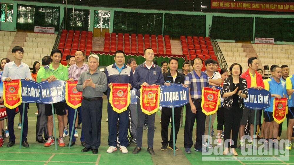 Gần 200 vận động viên tham gia Giải Cầu lông- Quần vợt truyền thống Hiệp Hội doanh nghiệp lần thứ XI