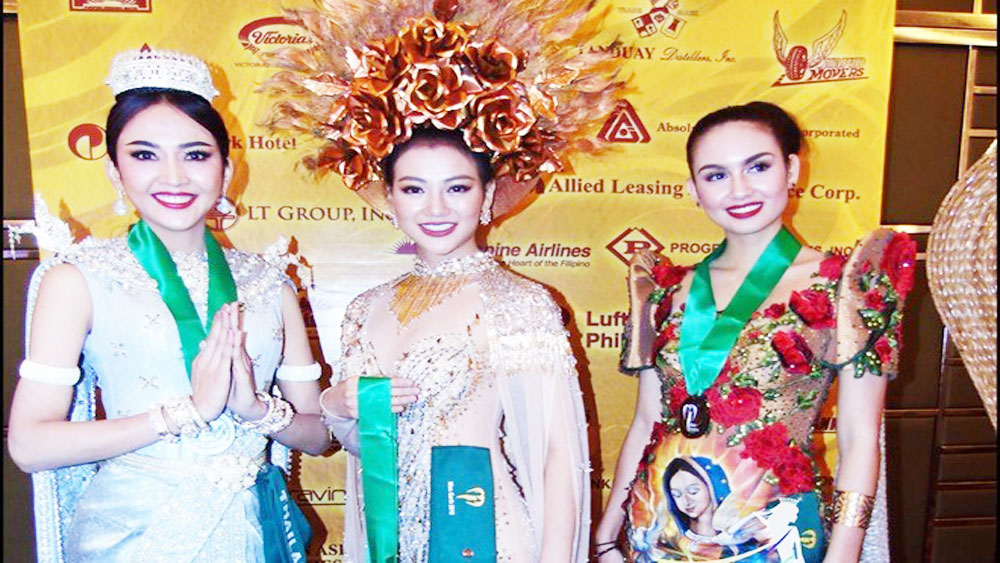 Vietnamese contestant wins Miss Earth costume round