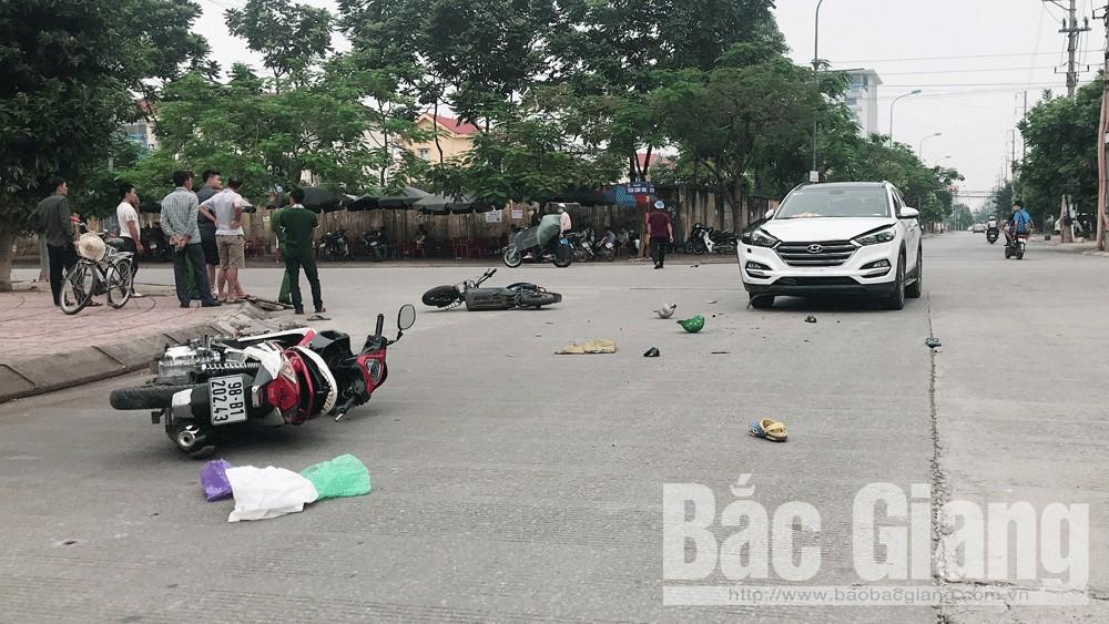 TP Bắc Giang: 4 người bị thương do va chạm giao thông