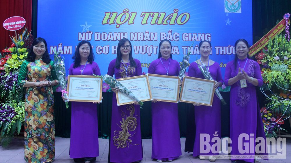 Bac Giang province, Businesswomen, grasp oppoturnity, overcome challenge, Vietnam Businessmen Day, Vietnamese Womens' Day, production and business, charitable and humanitarian activities