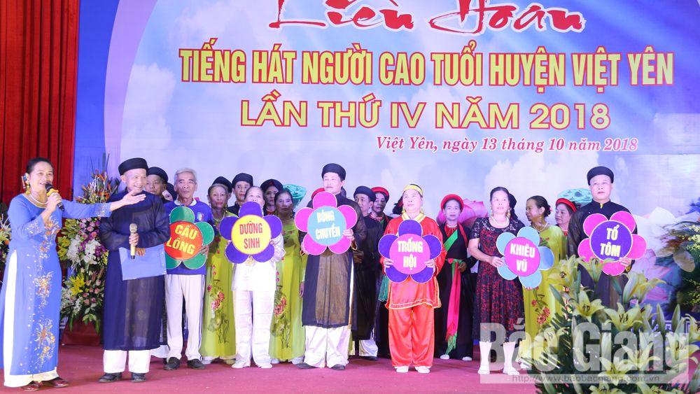 Liên hoan tiếng hát người cao tuổi lần thứ IV, năm 2018