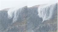 Thác nước chảy ngược vì bão quá mạnh
