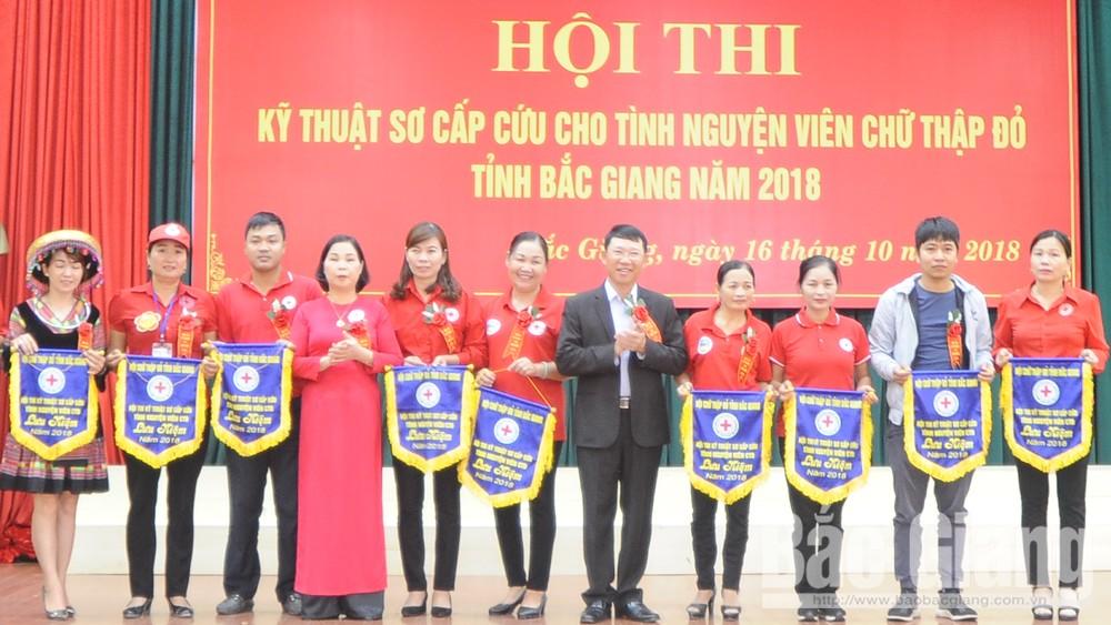 Lục Nam giành giải Nhất Hội thi kỹ thuật sơ cấp cứu cho tình nguyện viên Chữ thập đỏ