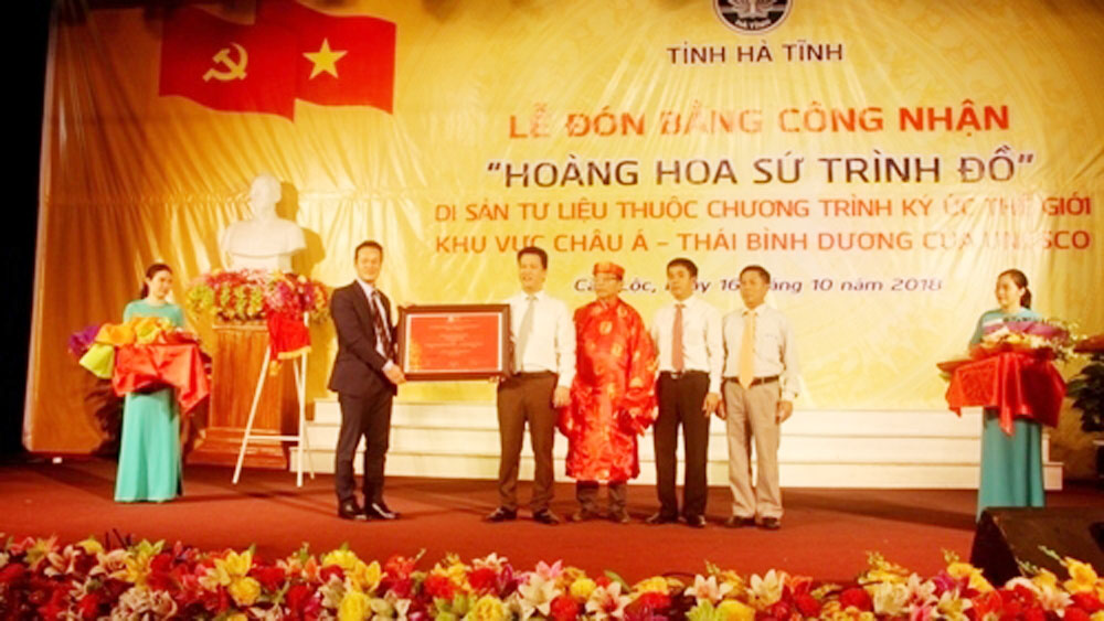Hoang Hoa su trinh do, UNESCO recognition, documentary heritage, UNESCO, World programme, Envoy's Journey to China, diplomatic relationship