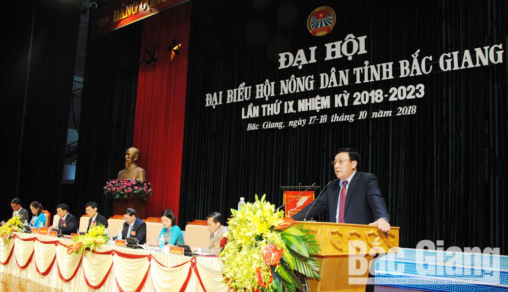 Đồng chí Nguyễn Công Thức, Ủy viên BTV, Trưởng Ban Tổ chức Tỉnh ủy phát biểu chỉ đạo công tác bầu cử tại Đại hội.