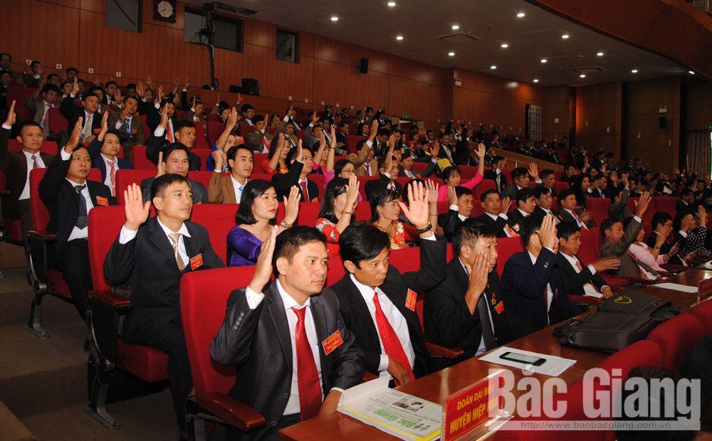 Các đại biểu biểu quyết thông qua Nghị quyết Đại hội.