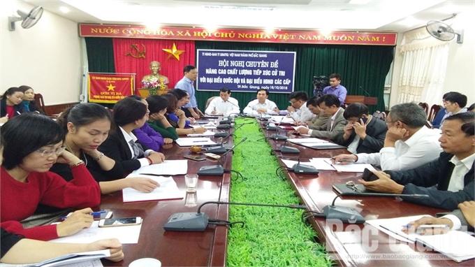 Hội nghị chuyên đề nâng cao chất lượng tiếp xúc cử tri với đại biểu Quốc hội, HĐND các cấp