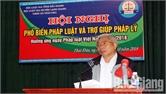 Hội Luật gia tỉnh tuyên truyền Luật Đất đai cho người dân xã Thái Đào (Lạng Giang)
