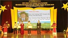 Trịnh Duy Hiếu được Bộ Giáo dục và Đào tạo tuyên dương