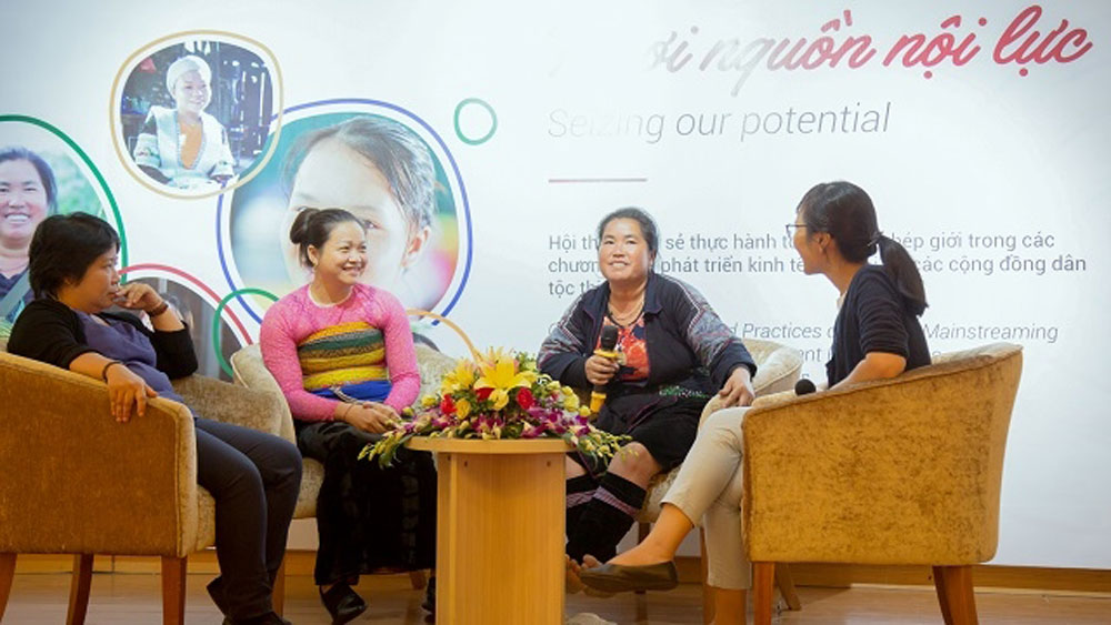 Ethnic minority women, share experience, socio-economic development, good practices, ethnic minority communities, Southeast Asian country, Irish Aid
