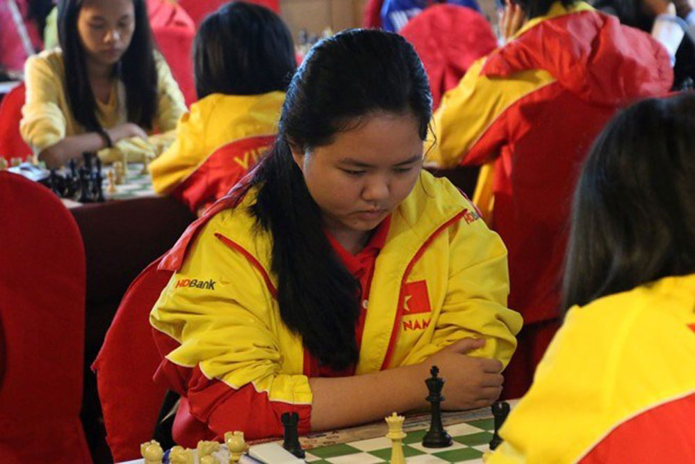 HCM City girl, world junior chess champs, Bach Ngoc Thuy Duong,  U16 rapid chess,  World Youth Chess Championships, consecutive wins,  youngest Vietnamese player