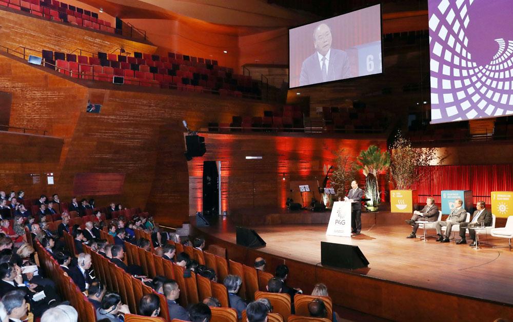 Thủ tướng Nguyễn Xuân Phúc, Hội nghị, thượng đỉnh, Đối tác,  tăng trưởng xanh, mục tiêu, toàn cầu