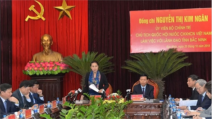 NA Chairwoman works with Bac Ninh province