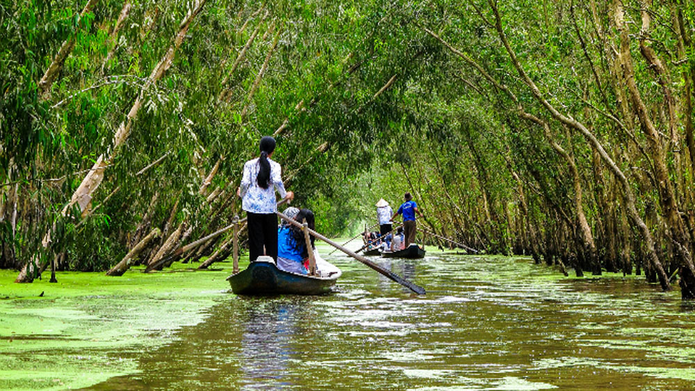 Five destinations, tourist's heart, An Giang province, most beautiful,  rainy season, mighty mangrove forests, unique floating markets, cultural destinations