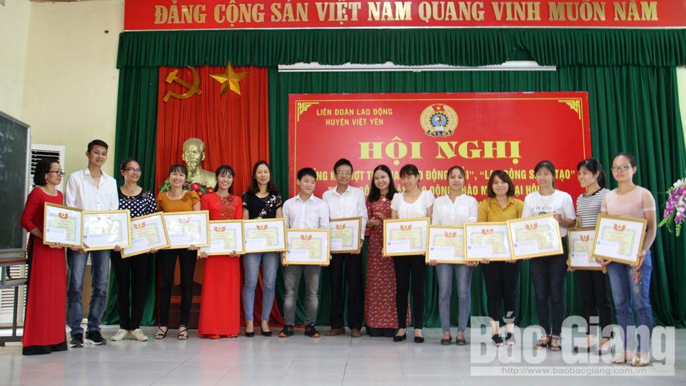 Việt yên, hội nghị, khen thưởng, công nhân