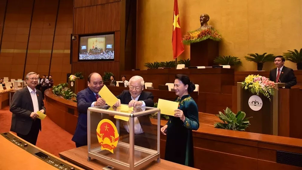 General Secretary, Nguyen Phu Trong, Vietnamese President, National Assembly,  swearing-in ceremony, heavy responsibility