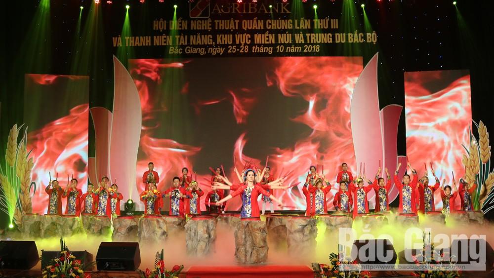 Hội diễn, nghệ thuật, quần chúng, Agribank, khu vực, miền núi, trung du Bắc Bộ, Bắc Giang