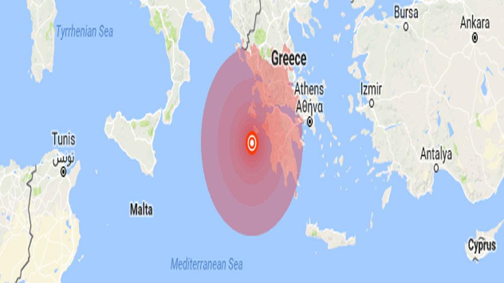 Hy Lạp rung chuyển vì động đất