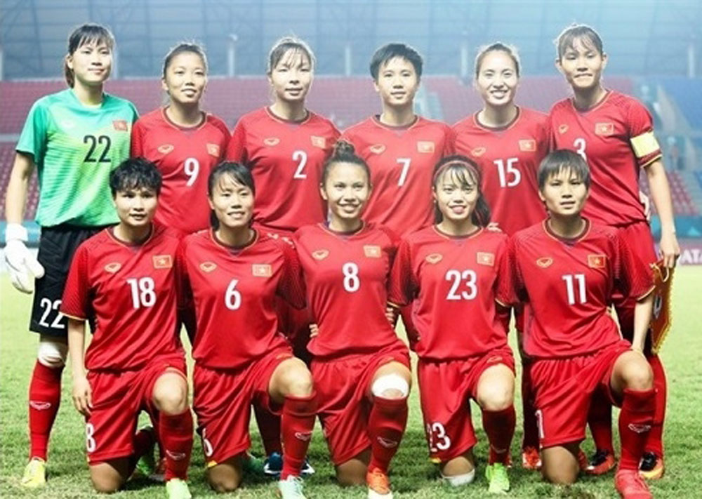Vietnam, U19 women, Singapore, AFC champs, Group E, Asian Football Confederation, My Dinh Stadium, Singapore goal, Vietnamese team, Vietnamese women