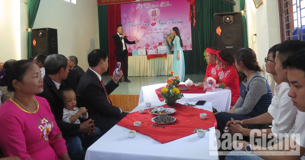 TP Bắc Giang, đám cưới điểm, văn minh, tiết kiệm, phường Trần Nguyên Hãn