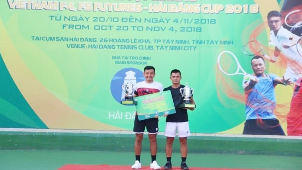 Host players, men's doubles title, Vietnam F4 Futures, top tennis player, Ly Hoang Nam, Le Quoc Khanh, Hai Dang Cup, total prize money