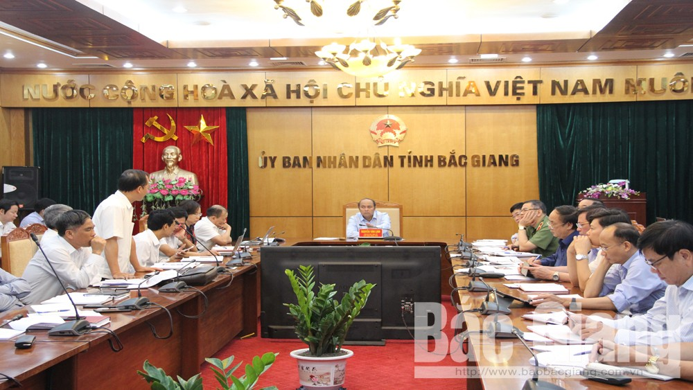 Bắc Giang, Nguyễn Văn Linh, giao ban tháng 10