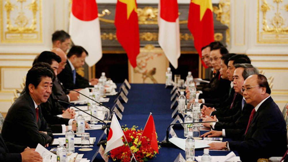 Bright prospects, Vietnam-Japan, economic ties, Thriving economic cooperation, extensive strategic partnership, bilateral trade value, balanced relationship
