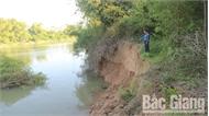 Bắc Giang: Nhiều đoạn sạt lở ven sông Thương