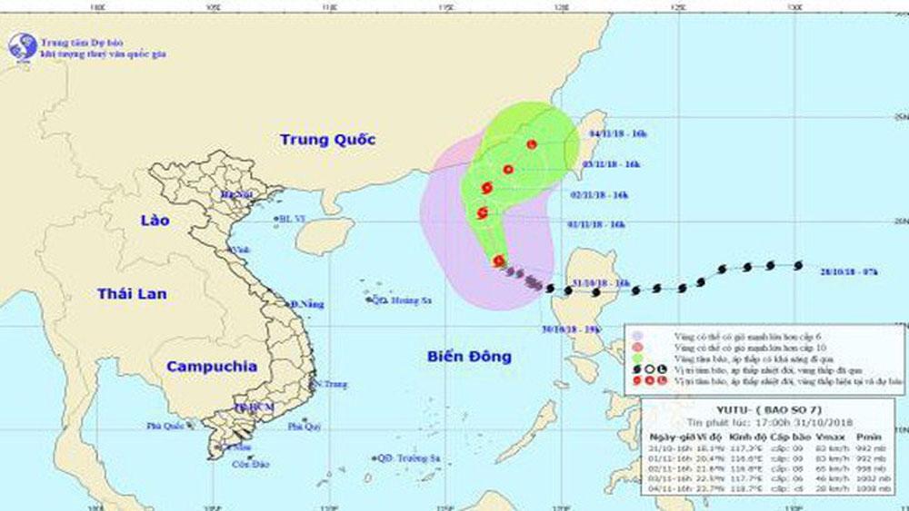 Bão số 7 tan dần và suy yếu thành áp thấp nhiệt đới